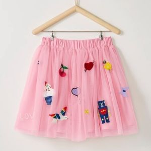 NWT Hanna Andersson Soft Tulle Loved Skirt, 90cm